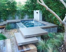 Contemporary Home Design: Brilliant Above Ground Plunge Pool Using Water  Flow Combined With Stone Floor