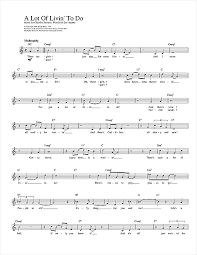 bye bye birdie sheet music a lot of livin to do from bye bye birdie chords by charles