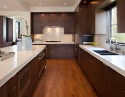 modern walnut kitchen cabinet