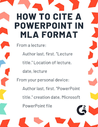How To Cite A Powerpoint In Mla Format