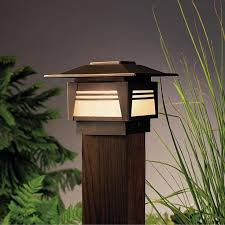 asian lighting. kichler 15071 zen garden 1 light outdoor post lamp add some asian calm to your yard at night with this stylish and simple lighting