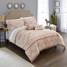 bedding taupe southwest native lodge queen bed 5pcs set comforter shams pillows