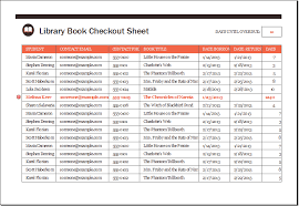 Check Out Sheet Library Book Checkout Sheet Template Xls Excel Templates