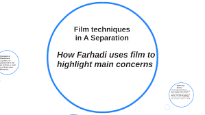 Film techniques in a Separation by Leo Palmer