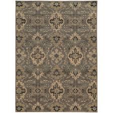 oriental weavers heritage 8028e blue ivory area rug