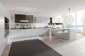 modern white and gray kitchen. Modern White Kitchen Antique And Gray D