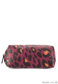 matt leopard print makeup bag top women s makeup bags travel cases burgundy 607732