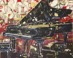 image original painting of piano