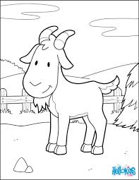 Goat At The Barnyard Coloring Page