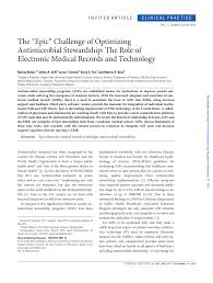 Epic Computer Charting Pdf The Epic Challenge Of Optimizing Antimicrobial