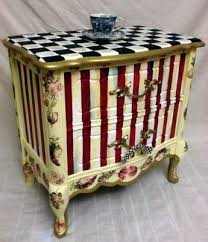 whimsical painted furnitureHand Painted  Custom Finished Furniture  Almost done a really