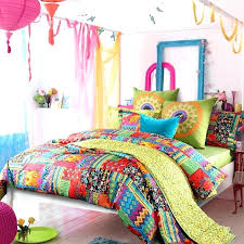 neon bedding sets colorful bedding sets queen amazing peacock blue yellow and red neon color bohemian neon bedding