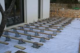 Comment Faire Une Terrasse En Bois Sur Plot Beton
