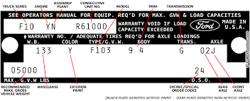 Vin Code Chart Decoding 73 79 Ford Truck Vin Tags Fordification Net