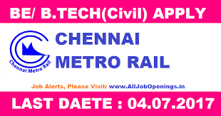 chennai metro rail recruitment for graduate diploma course job  chennai metro rail recruitment for graduate diploma