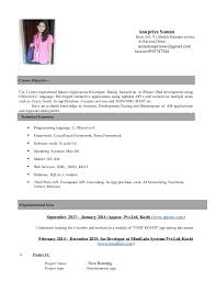 Anupriya IOS Dev Resume Amazing Ios Developer Resume