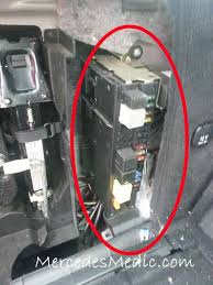 2001 2007 mercedes benz c class fuse location diagram w203 fuse trunk