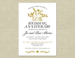 50th Anniversary Party Invitations Great 50th Anniversary Party Invitation Templates Gallery