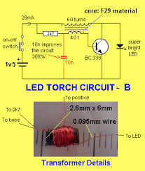 led torch the brightness of the led did not alter but the current changed from 85ma to 28ma the circuit instantly became 300% more efficient i could not believe it