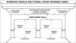 standard garage door sizes single double size uk
