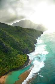 From the air; The Start of the napalm Coast Kent Chastain | Kauai ...