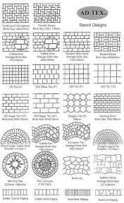 stenciled concrete patterns