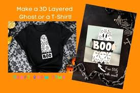 These free svg files are ready for print & cut with no tracing needed for silhouette studio designer edition, cricut design space, pazzles inspiration i have bought a handful of files for papercrafting. 3d Layered Ghost With Free Svg Craft Room Time