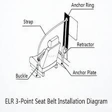 Universal 3 point retractable car seat belt bolt extension safety description 1969 corvette engine belt diagram