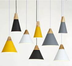 wood lighting. Wood Series Modern Cone Shaped Pendant Lights Lighting