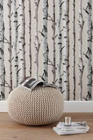 9 DIY Accent Wall Ideas to Make Your Home More Interesting. Birch Tree  WallpaperSilver ...