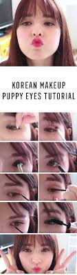 best korean makeup tutorials puppy eyes tutorial natural step by step tutorials for ulzzang