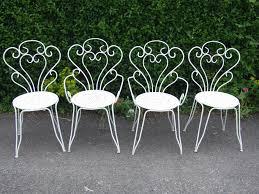 vintage wrought iron garden furniture. Furniture : Garden Chair Vintage White Outdoor Gardening . Wrought Iron