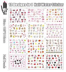 12 Sheets/Lot Nail Art YB529 540 Cartoon Pet Hello Kitty Nail Art ...