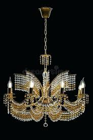 large crystal chandelier with candles isolated on black background intended for designs real candle lighting unique