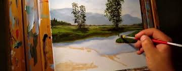 green meadows demonstration basic traditional landscape oil painting tutorial