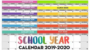 Printable Monthly Calendar July 2020 Free Printable School Year Calendar Monthly Pages 2019