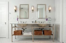 wall lights terrific bathroom vanity sconces long shape and two long mirror above the sink