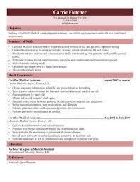 Medical Assistant Sample Resume Jmckell Com