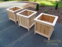 diy wooden planters planter box plans
