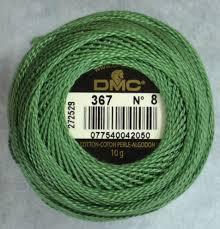 Dmc Pearl Cotton 8 Color Chart Dmc Pearl Perle Cotton Balls 100 Cotton 10g 80m 87yards Colour 367 Dark Pistachio Green