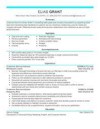 Modern Resume Builder For Sales Best Sales Customer Service Advisor Resume Example Livecareer