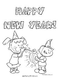 Simple Coloring Page Holiday Coloring Pages For Kids Happy New Year
