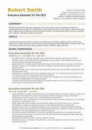 Resume Template Executive Assistant Executive Assistant To The Ceo Resume Samples Qwikresume