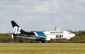 File:OZJET landing at Brisbane Airport ...