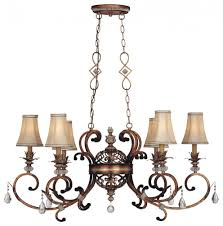 aston court chandelier 6 lt