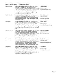 Resume For Nannies Perfect Detailed Experience And References