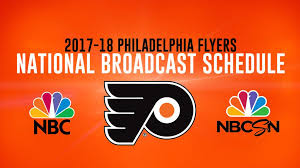 flyers scheduule nhl nbc release national broadcast schedule