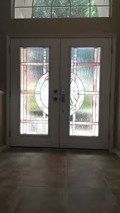 custom decorative glass front doors