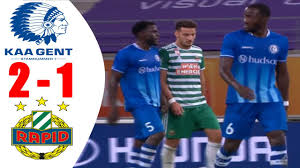 KAA Gent vs SK Rapid Wien 2 - 1 All Goals & Highlights UEFA Champions  League 20202021 - YouTube