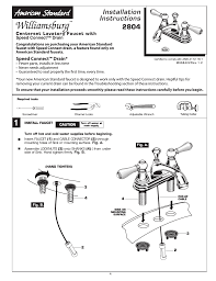 Kitchen Faucet Installation Instructions American Standard Kitchen Faucet Installation Instructions All